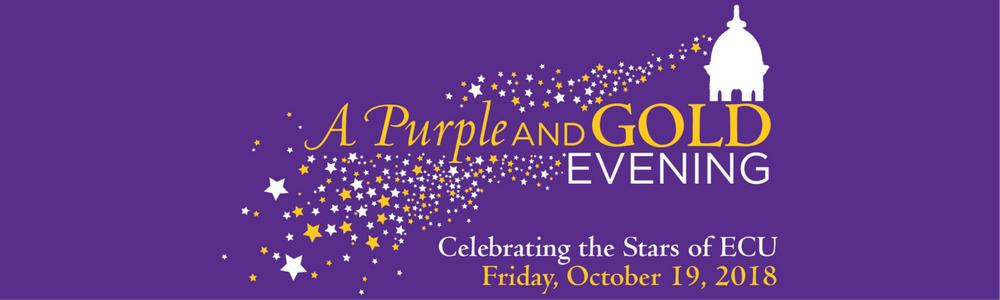 east carolina university a purple and gold evening